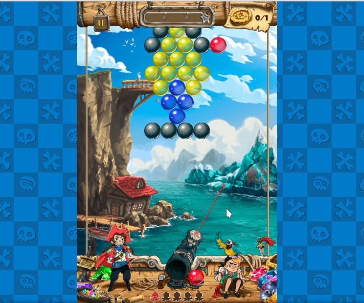 Sea Bubble Pirates 3 HTML5 game