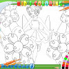 Holiday coloring html5