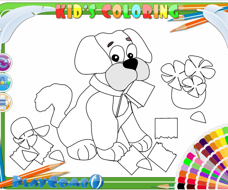 Funny Car Online Kids Coloring
